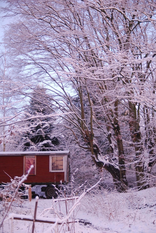 Winter und Bauwagen