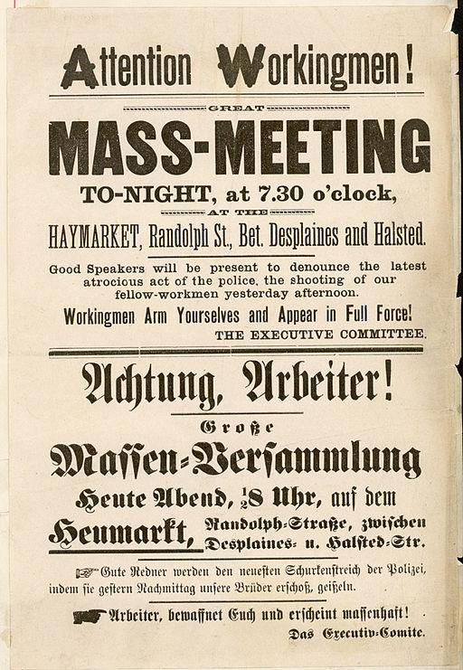 Plakat von 1886